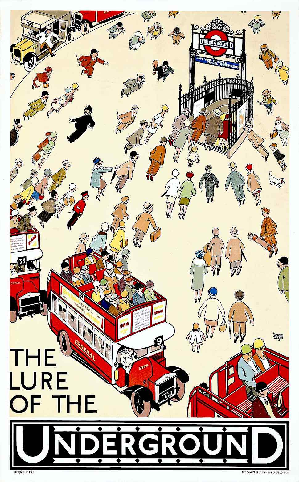 an Alfred Leete poster for the London subway