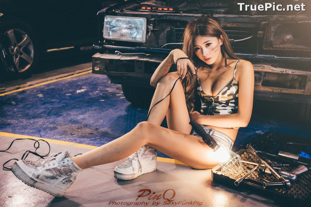 Image Taiwanese Model - PinQ憑果茱 - Hot Sexy Girl Car Mechanic - TruePic.net - Picture-6