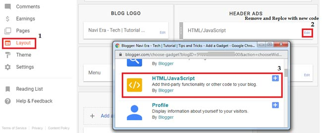 Google AdSense Asynchronous ad code implementation in blogger