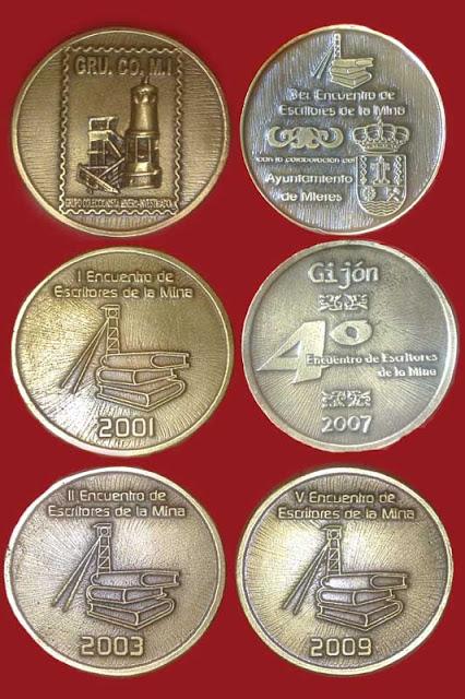 medallas, encuentros, escritores, mina