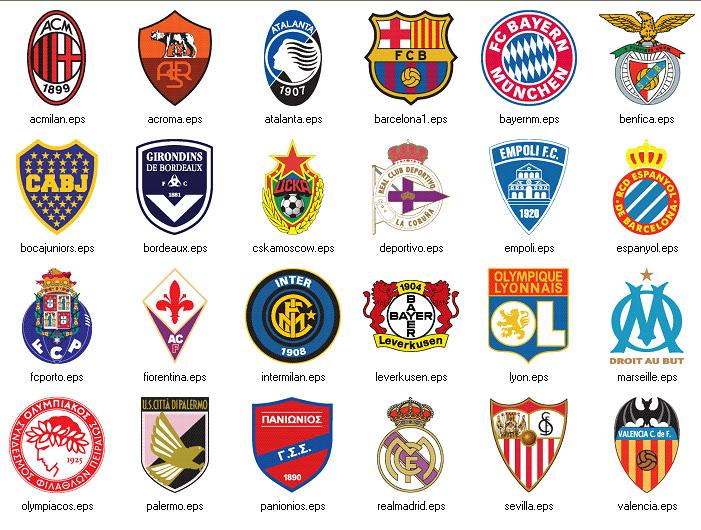 logos sports sport team names soccer quiz brands כדורגל football teams answers brand pes vector emblem icon popular basketball ball