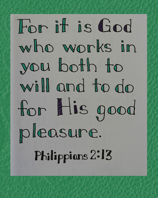 Scripture Writing, Philippians 2:13