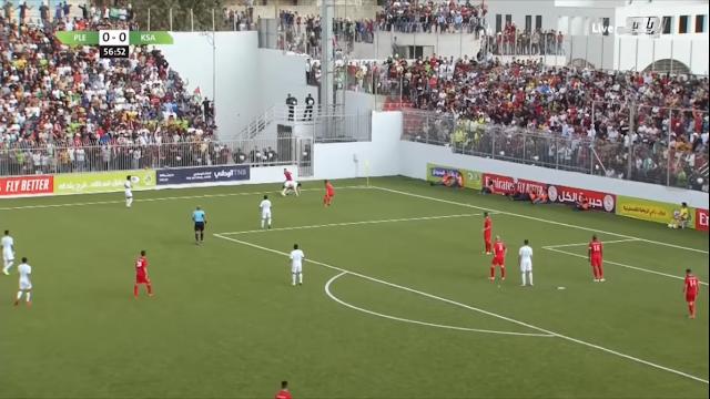 مباراة فلسطين ضد السعوديه تنتهي بالعادل