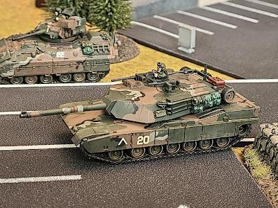 Flames of war, Team Yankee, WWIII, IPM1 Abrams, FOW, MERDC camo