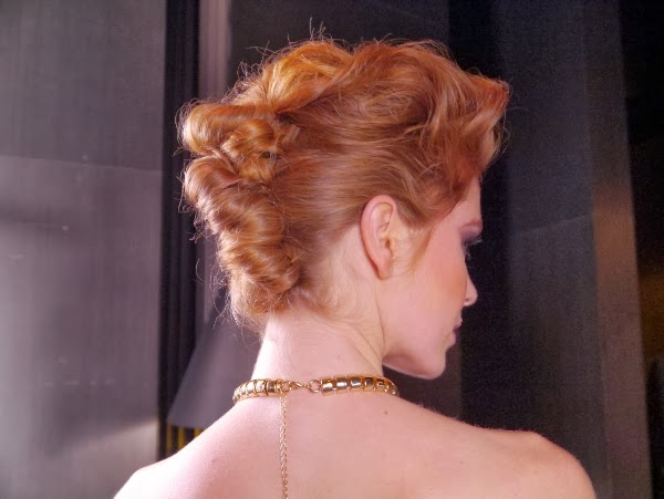 The back view of the Rockin' Romance hairstyle created by Pantene Pro-V stylist Justin German