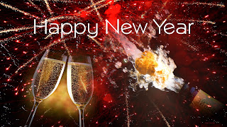 Happy New Year HD Images Beer Glass and Bottele