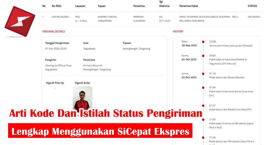 Arti Kode Dan Istilah Status Pengiriman SiCepat Ekspres