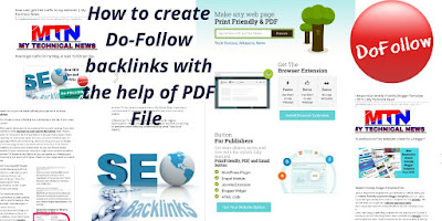 How to create Do-Follow Links with the help of PDF FILE? | MY TECHNICAL NEWS