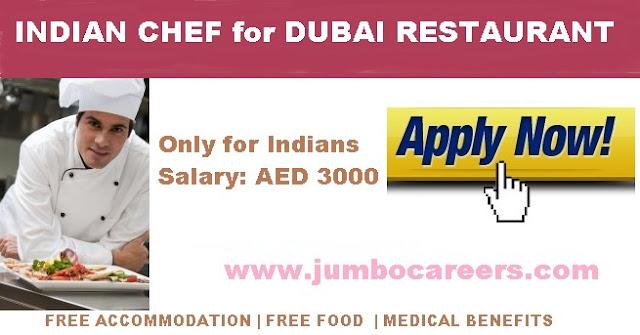 indian chef job in dubai