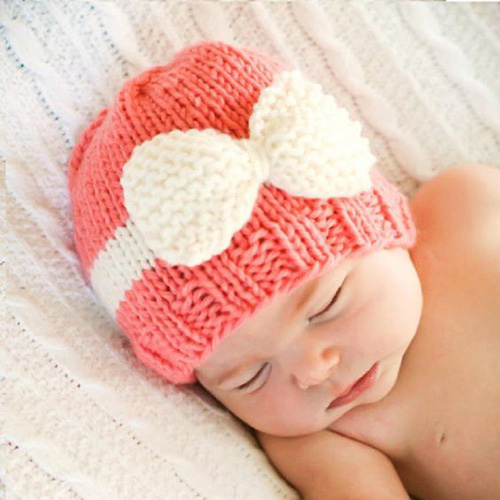 Like Knitting Knitted Baby Bow Hat Pattern