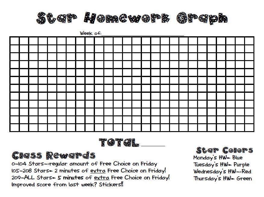 Universal Homework Model Star Homework - 3rd Grade Thoughts - daily homework assignment sheet