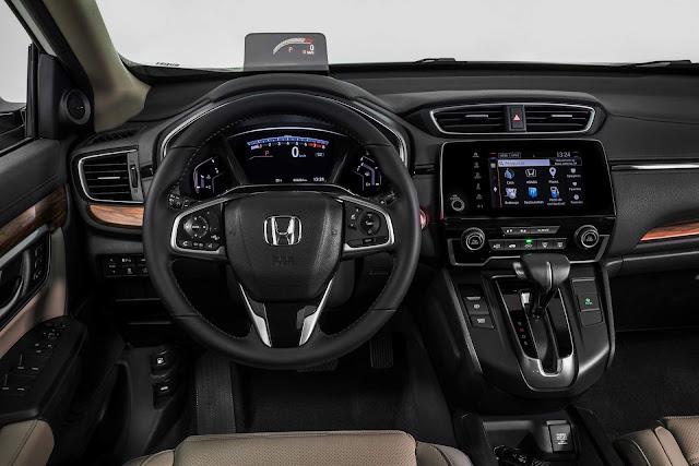 Novo Honda CR-V 2018 - interior - painel