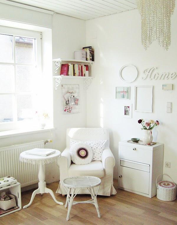 Shabby Chic Living Room Corner