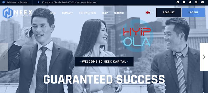 [SCAM] Review NeexCapital - Dự án tốt để đầu tư với lãi từ 1.6% hằng ngày