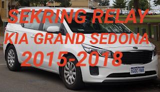 Letak sekring dan relay KIA GRAND SEDONA 2015-2018