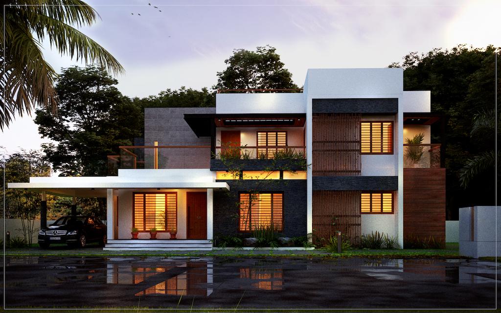Modern Design 4 Bedroom House Floor Plans Elevation