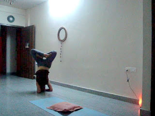 yoga for joy and peace lotus headstand finally 3 months