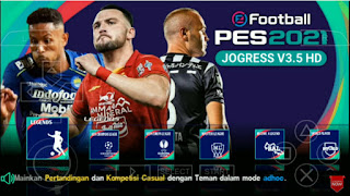 Download PES 2021 PPSSPP Jogress V3.5 Shopee Liga 1 Indonesia & New Update Transfer