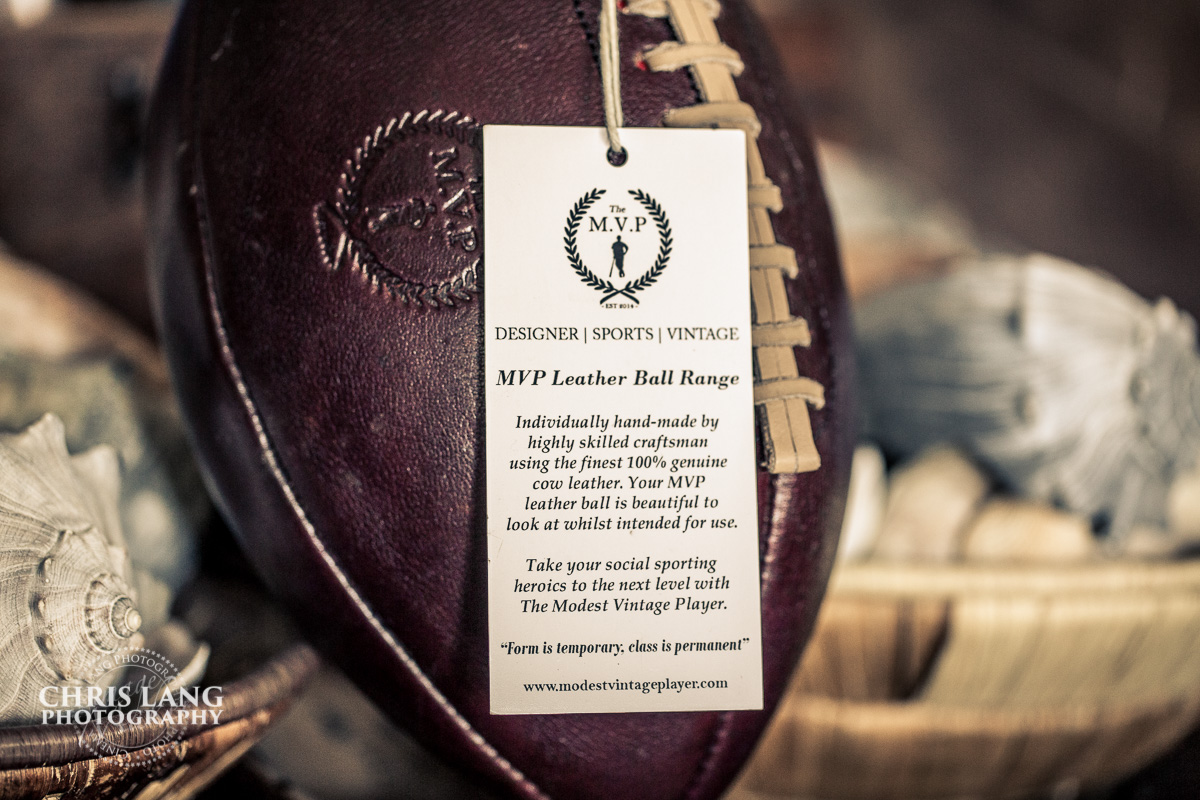 vintage leather football - genuine leather - Classic American leather football - Modern Vintage Player - Chris Lang Photography