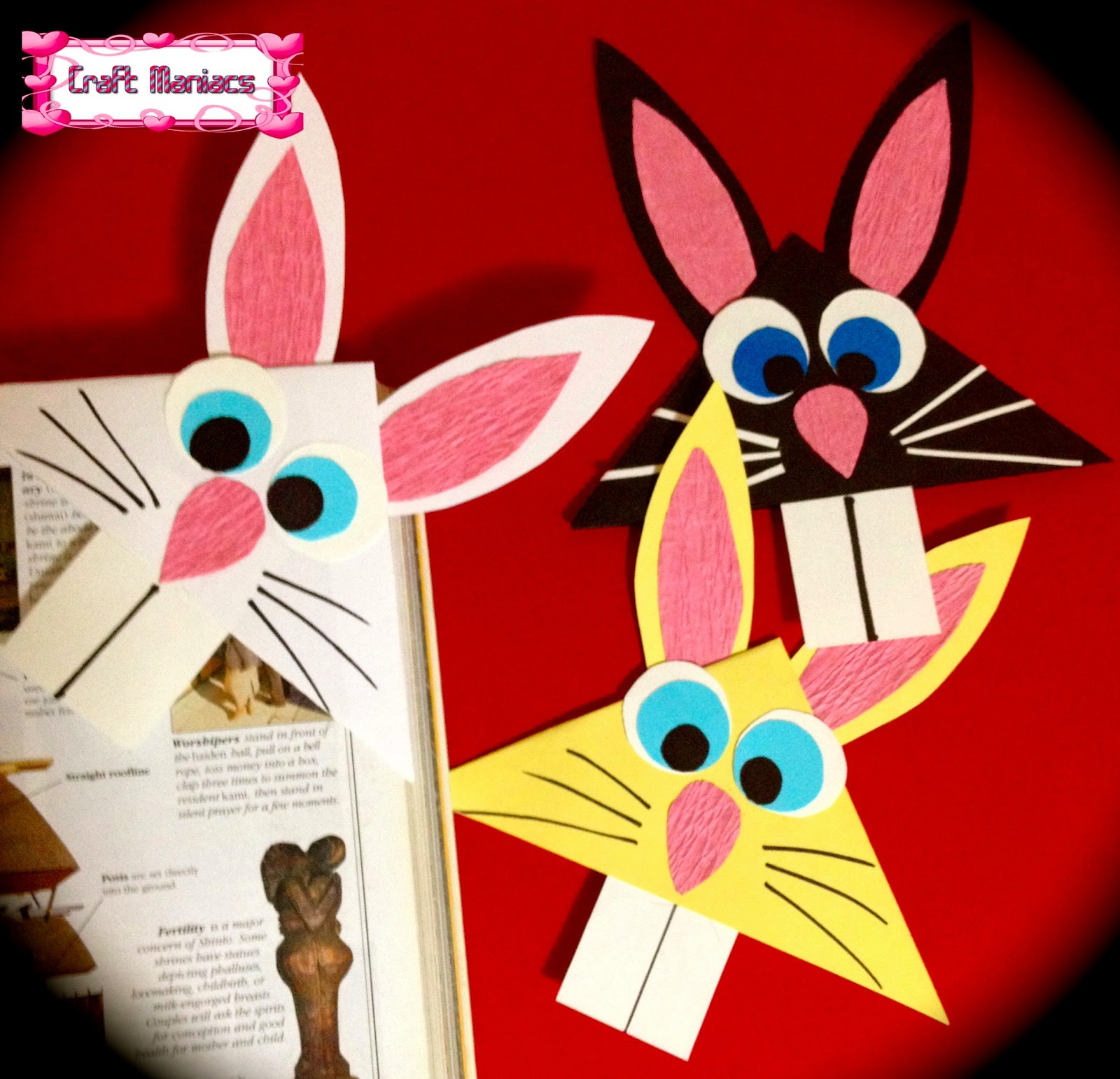 Bunny Corner Bookmark   1542x1600