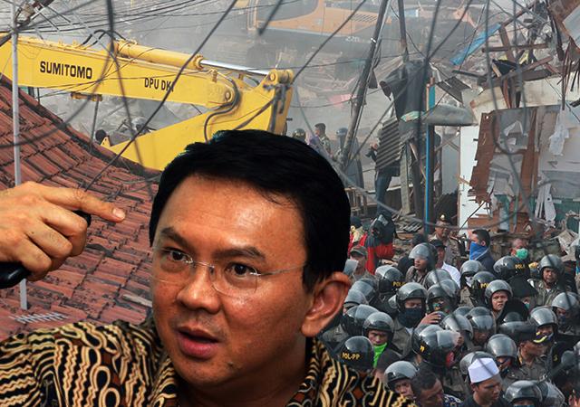 """Gegara Bentrok Konflik Lahan Pertamina di Pancoran, Ahok Kembali Dicap """"Tukang Gusur"""""""