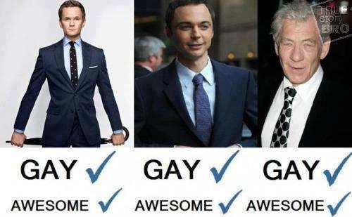 Gay Gay Gay = Awesome! Awesome! Awesome!