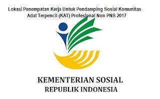Lokasi penempatan tugas Pendamping sosial KAT 2017