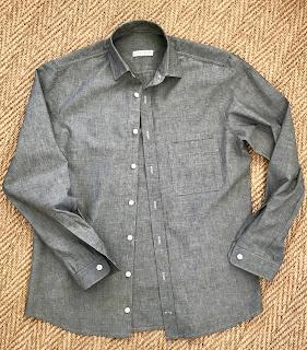 Grey Chambray Fairfield Button Up Shirt
