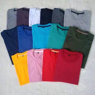 Agen Kaos Polos Bahan Polyester Asli di Halmahera Selatan