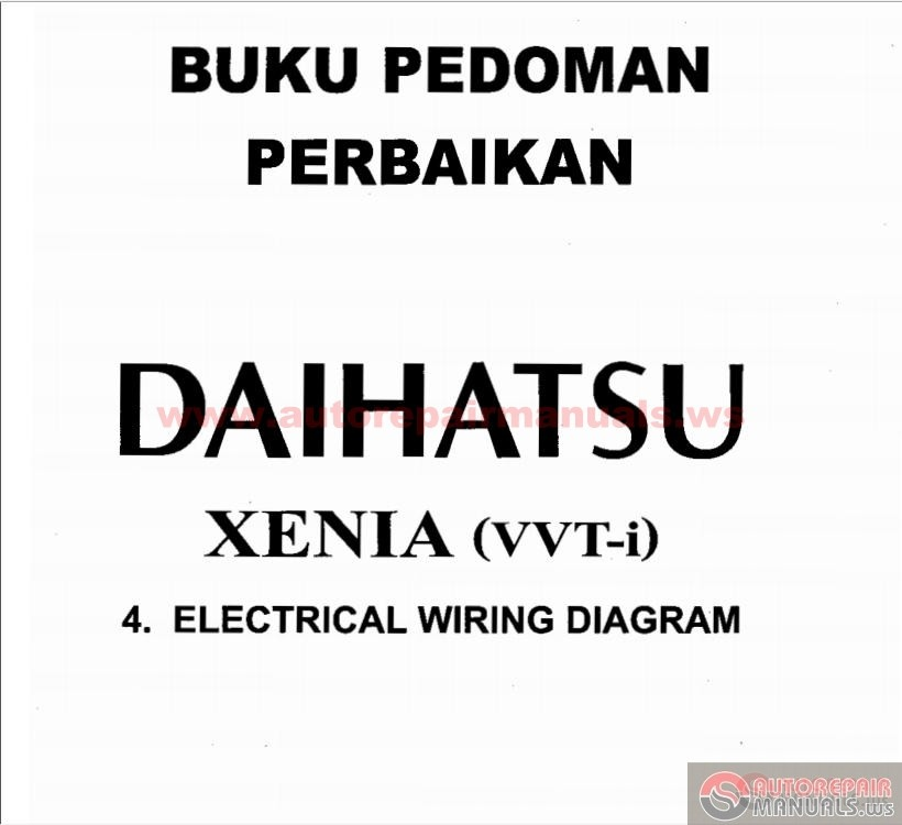 Free Automotive Manuals: Daihatsu Xenia VVT-i Electrical