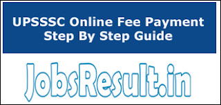 UPSSSC Online Fee Payment