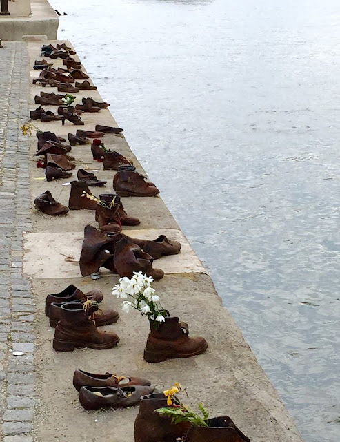 Shoe memorial along the Danue in Budapest