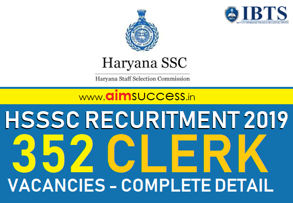 HSSSC Clerk Recruitment 2019 Notification Apply for 352 Posts
