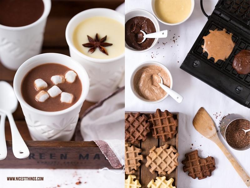 Rezept für Ombre Waffeln mit drei Sorten Schokolade