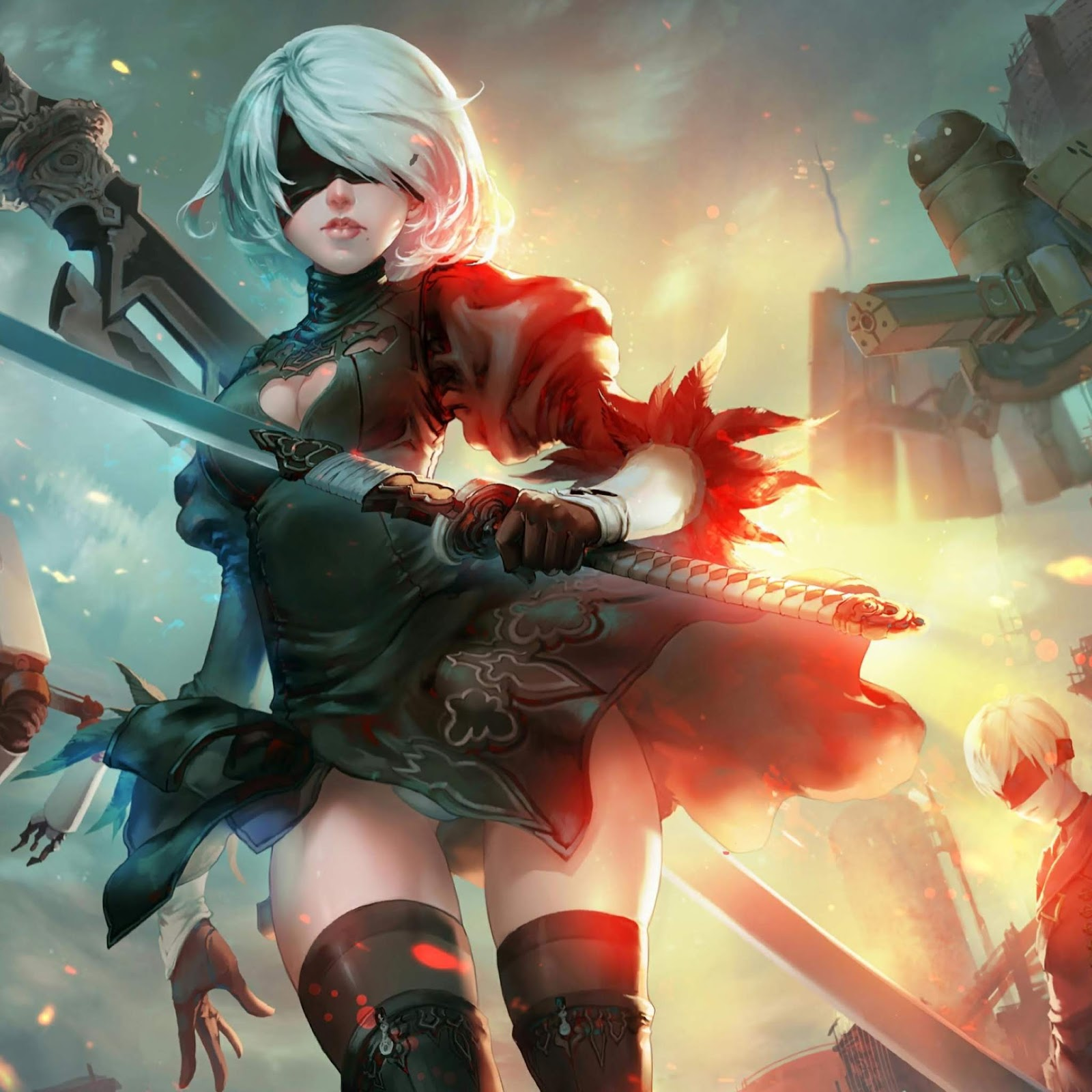 Nier Automata 2B and 9S 4K Animated free download ...