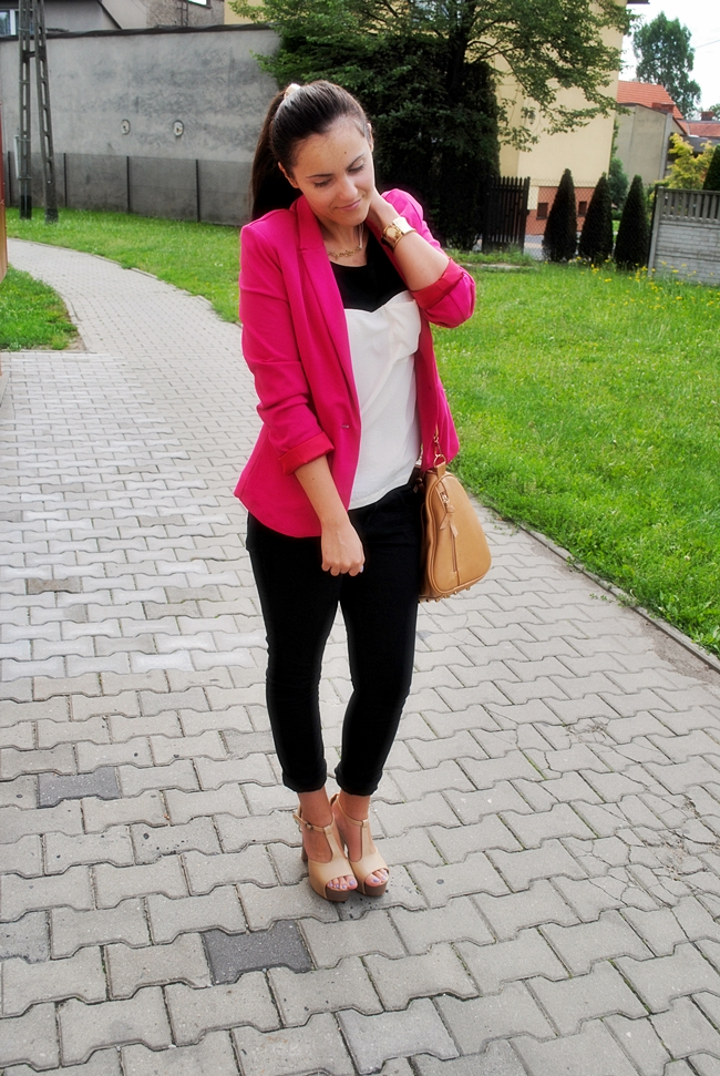 różowy żakiet