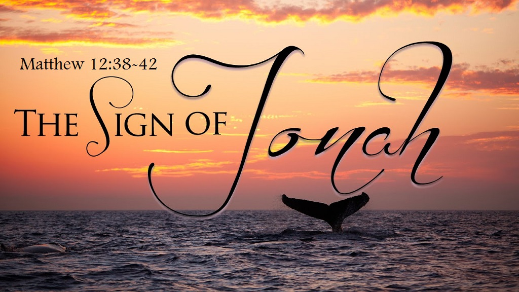 Image result for sign of Jonah matthew