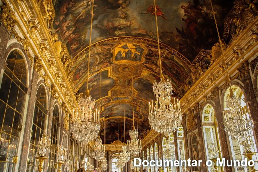 Galeria dos Espelhos; Galerie des Glaces; Palácio de Versalhes; Château de Versailles;