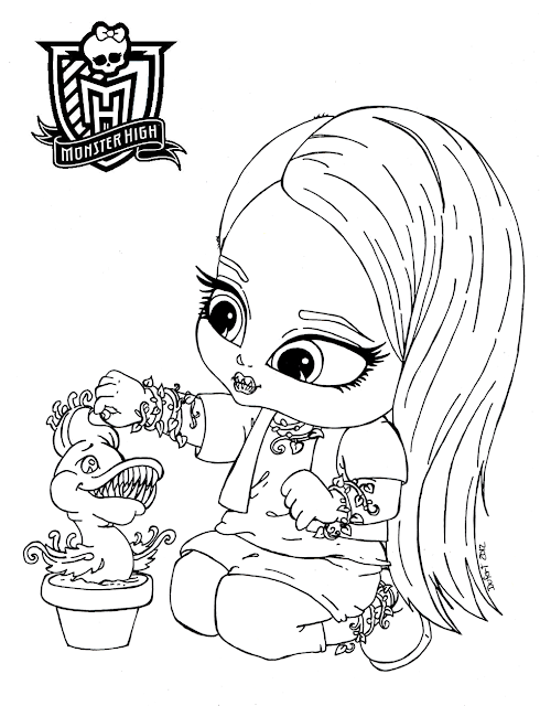 monster high bratz coloring pages-#30