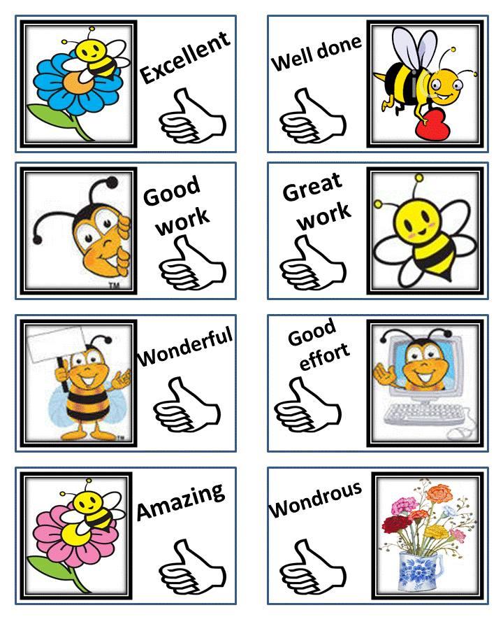 بطاقات تشجيعية رائعة للأطفال موارد المعلم