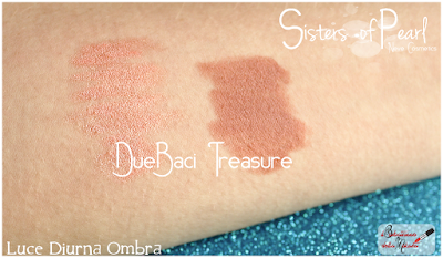 Treasure Review Due Baci swatches Sisters Of Pearl  Neve Cosmetics