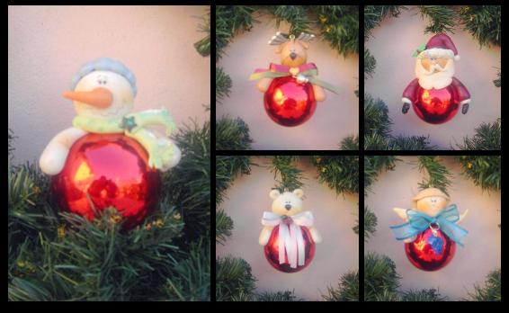 Soy feliz pintando talleres navidad adornos para el rbol for Adornos navidenos en porcelana fria utilisima