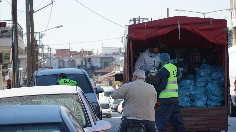 Ολοκληρώθηκε η διανομή αγαθών σε 1500 οικογένειες της περιοχής καραντίνας