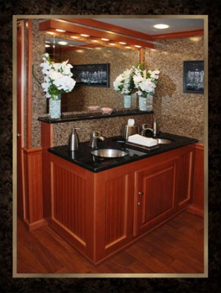 Mobile Restroom Trailers--The Manhattan's Double Sink