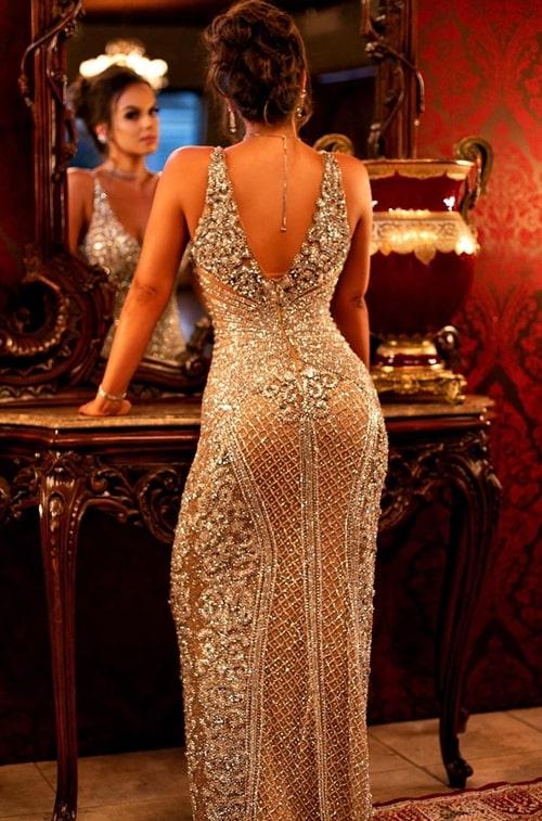 vestido bordado para formanda baile formatura
