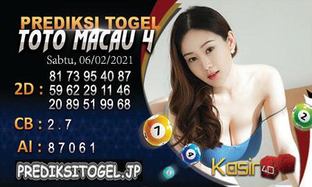Togel Macao 4D Cash Register untuk hari Sabtu, 6 Februari 2021