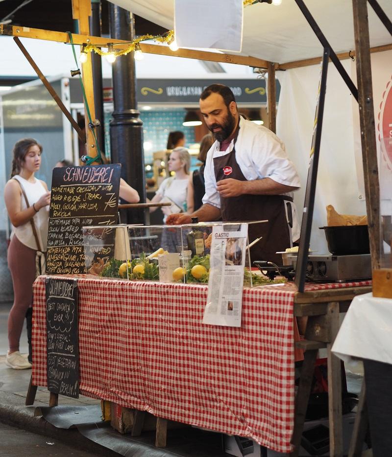 A stall at Markthalle Neun's Street Food Thursday