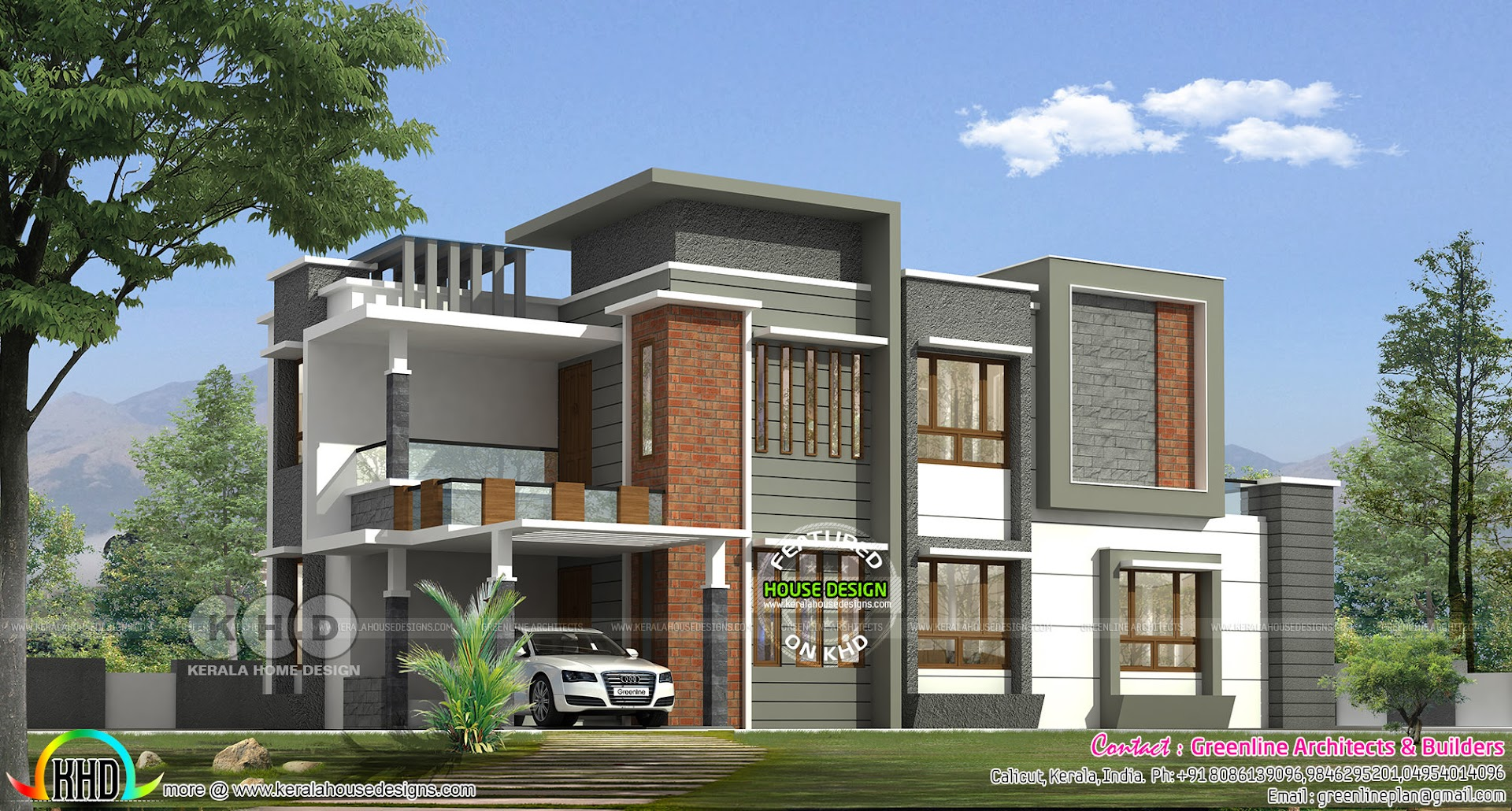Kerala home design and floor plans Modern square house