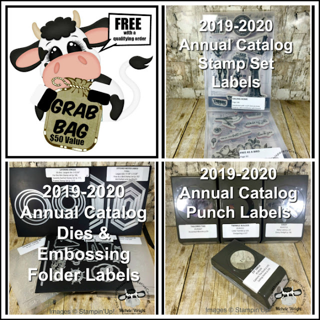 FREE, Grab Bag, Labels, Stampin Up