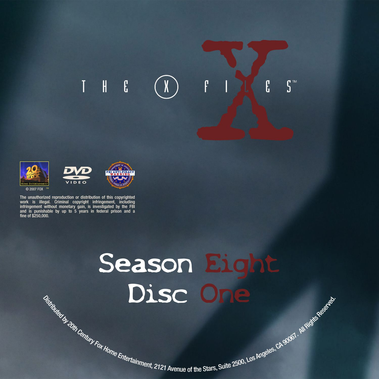 The X Files Season 8 DVD Label Disc1-6